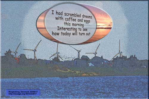 I had scrambled dreams with coffee and eggs this morning Interesting to see how today will turn out